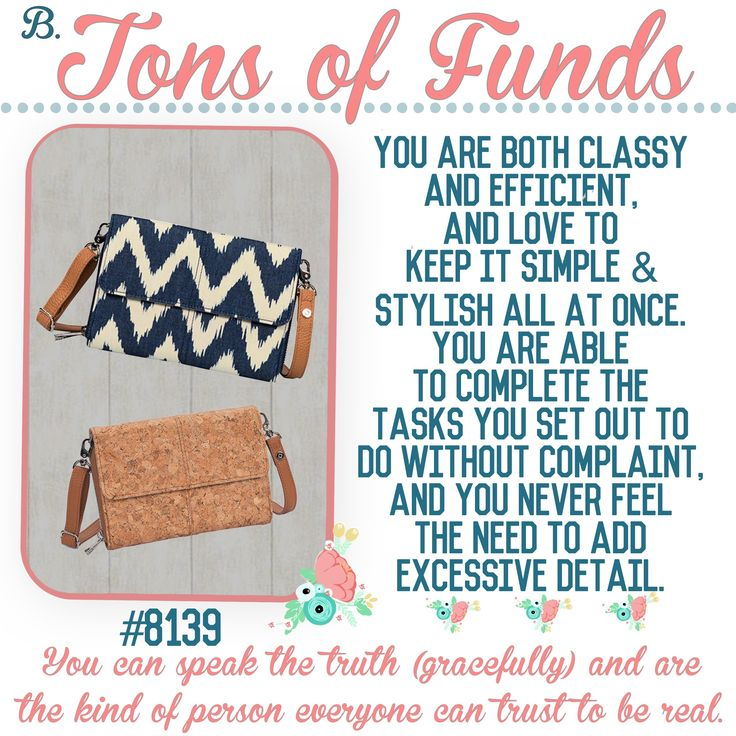 "What's your Thirty-One  purse-onality? Spring/Summer 2017 online party game   ""Tons of Funds"""