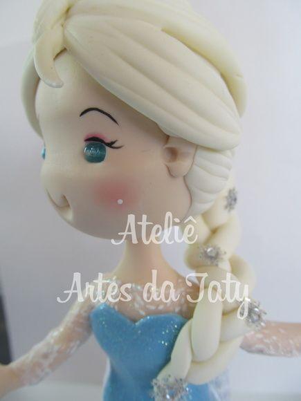 Topo de bolo Elsa frozen