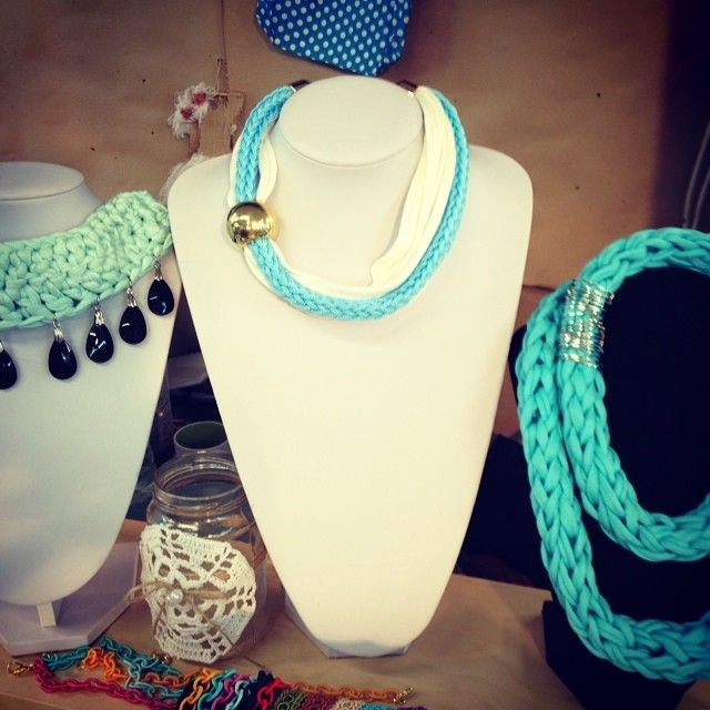 Necklace blue & white...