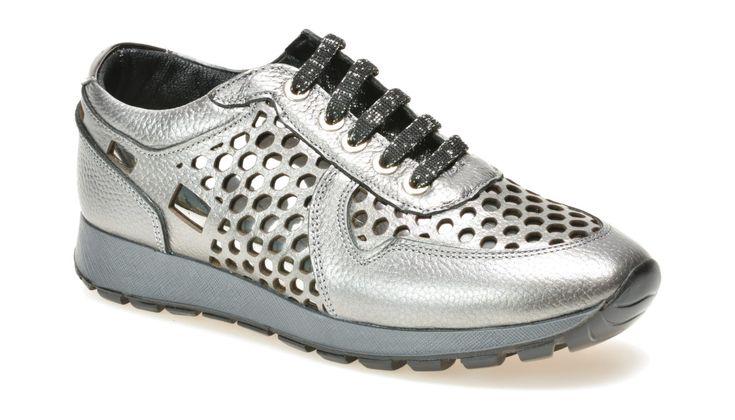 Pantofi FLAVIA PASSINI argintii, Nb2025, din piele naturala