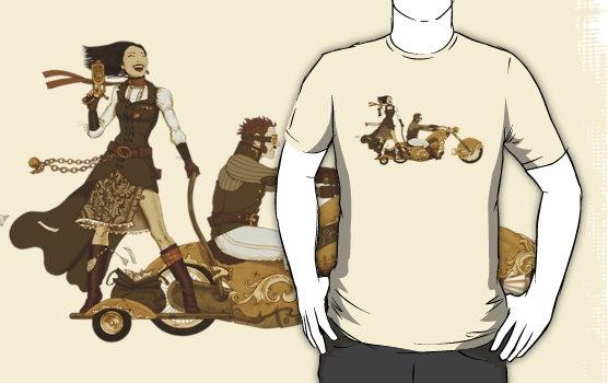 Steam Punk T-shirt - Bonnie and Clyde