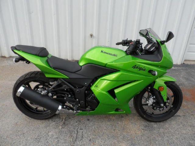 2012 Kawasaki NINJA 250R Sportbike , Lime Green, 291 miles for sale in Elberton, GA