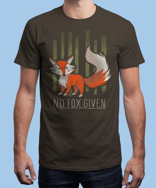"""No fox given"" is today's £8/€10/$12 tee for 24 hours only on www.Qwertee.com Pin this for a chance to win a FREE TEE this weekend. Follow us on pinterest.com/qwertee for a second! Thanks:)"