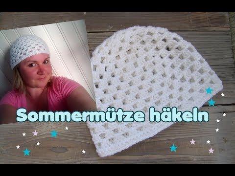 Einfache Sommermütze häkeln, Granny Mütze, Beanie (S, M, L) - YouTube