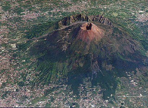 Mount Vesuvius.  Surrounded by Naples, Italy.    I climbed this dormant volcano!