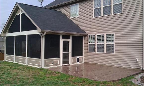 Stamped Concrete Screened Porches : Best images about screened in porch on pinterest