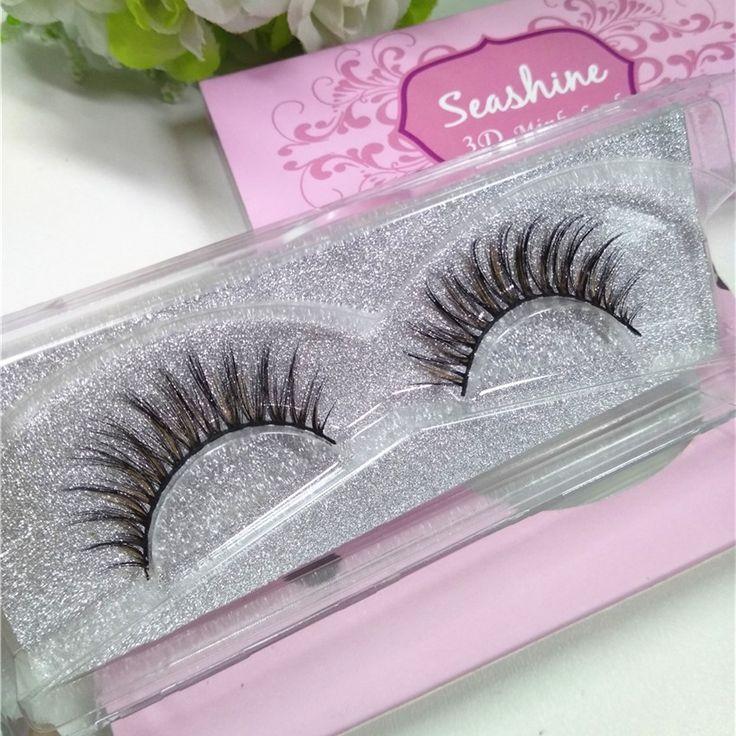 100% Hand Made 1 Pair Super Soft natural Lifelike false eyelash 3D strip mink lashes thick fake eyelashes Makeup beauty