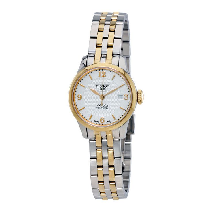 TISSOT LE LOCLE AUTOMATIC SILVER DIAL TWO-TONE WOMEN'S WATCH - Watch Direct Australia