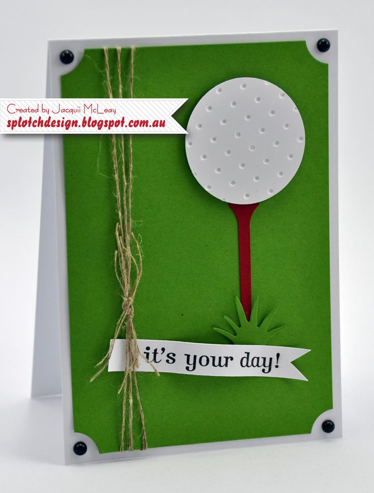 Splotch Design - Jacquii McLeay - Stampin Up - Father's Day Golf Card