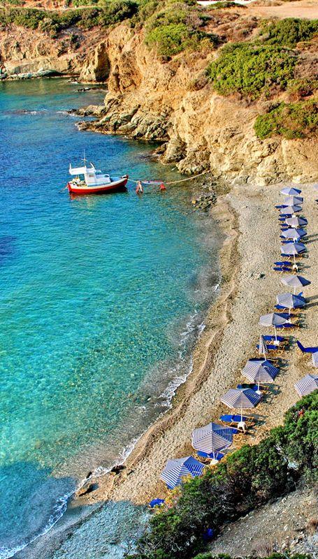 Beach in Agia Pelagia area, Heraklion, Crete