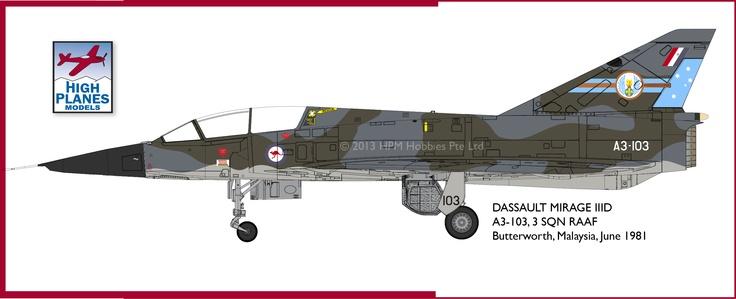 High Planes Mirage IIID 3 SQN RAAF