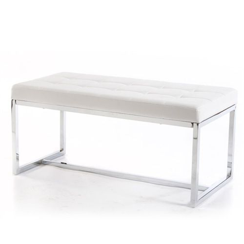 Bouclair Faux Leather Bench ($149)