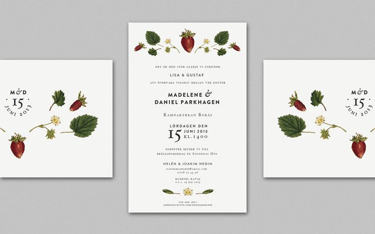 Wedding invitation, MADELENE & DANIEL - By Cecilia Hedin