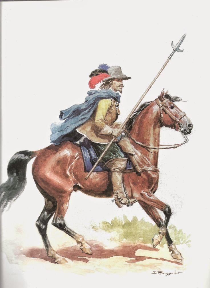 Guerre des Trente Ans - Cavalier Bavarois (1), by Lucien Rousselot.
