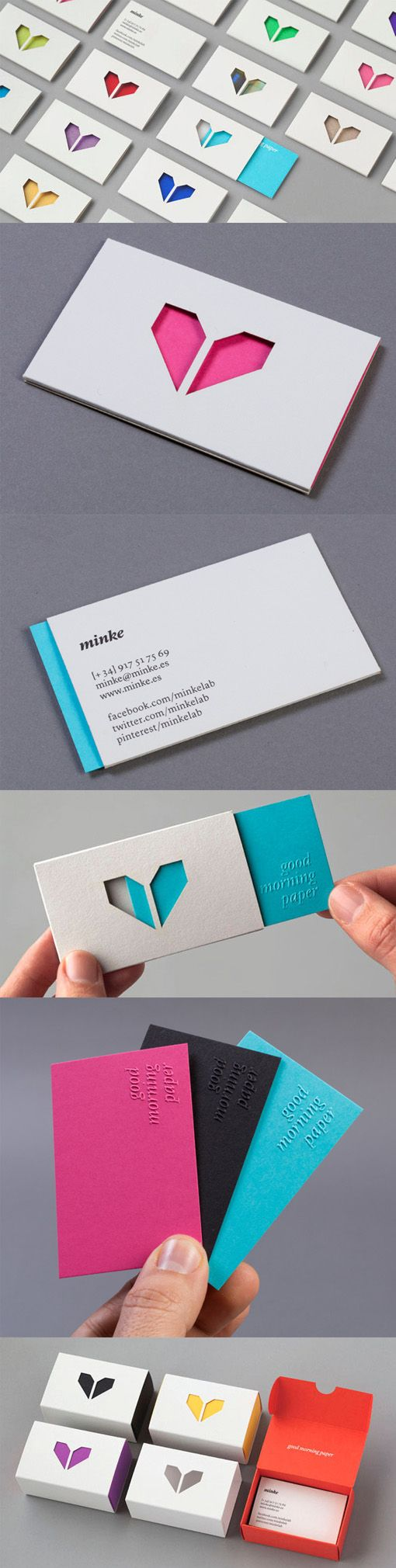 Clever Layered Interactive Die Cut Business Cards For A Print And Design Studio