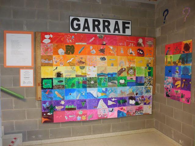 Mural col.lectiu sobre el poema GARRAF de Jordi Aligué