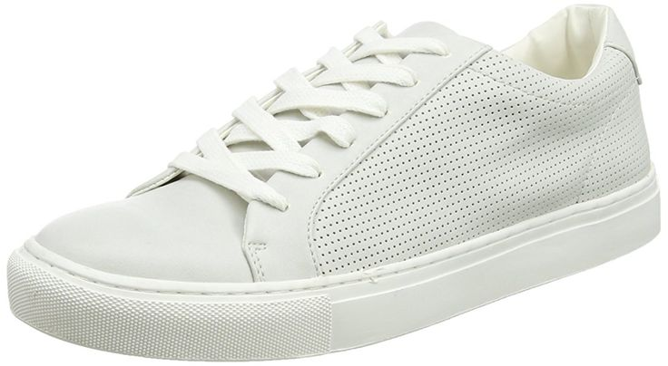 New Look Blake Perf Luxe, Sneakers Basses homme - Blanc Cassé - Off White (11), 40.5