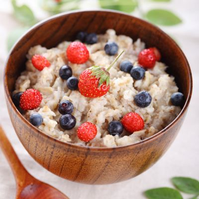 Green tea-infused oatmeal