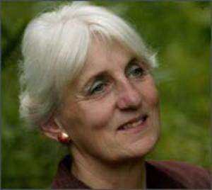 Marga Kool, schrijfster, dichteres en politica. Vooral bekend vanwege haar werk in het Drents maar publiceert ook in het Nederlands.