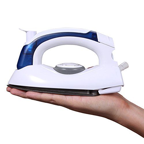 Mini Travel Iron, Iron Master Steam, 700w Foldable Portable Travel Steamer Dry Iron  ✔Glide Soleplate --- The teflon base nonstick soleplate of this mini iron glides easily over all fabric types to smooth out wrinkles big and small.  ✔Safe --- 700 watts for lower power consumption. Built-in Fuse and Thermostat for safe and secure use.  ✔Temperature Control --- Variable temperature settings with dial temperature control (Low/Middle/High) : First low gear for snthetic fiber; Second middl...