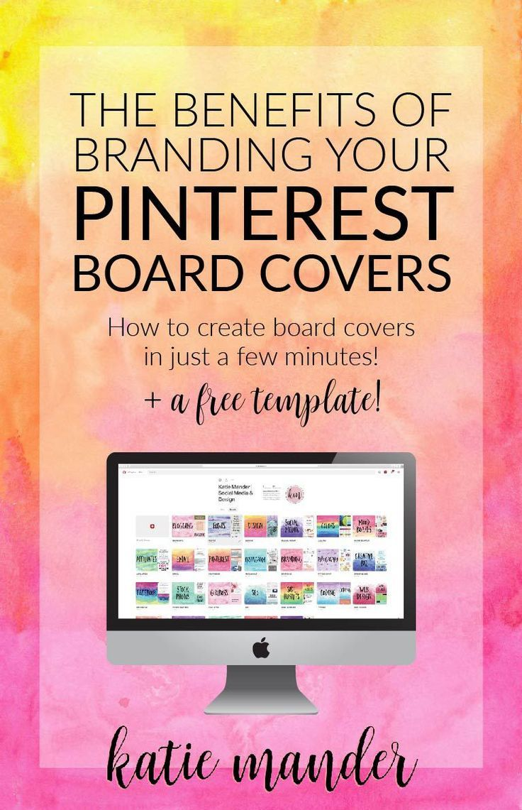 How and why to brand your Pinterest account. Creating custom board covers for your boards will create a unique, cohesive profile that will drive followers to your page!