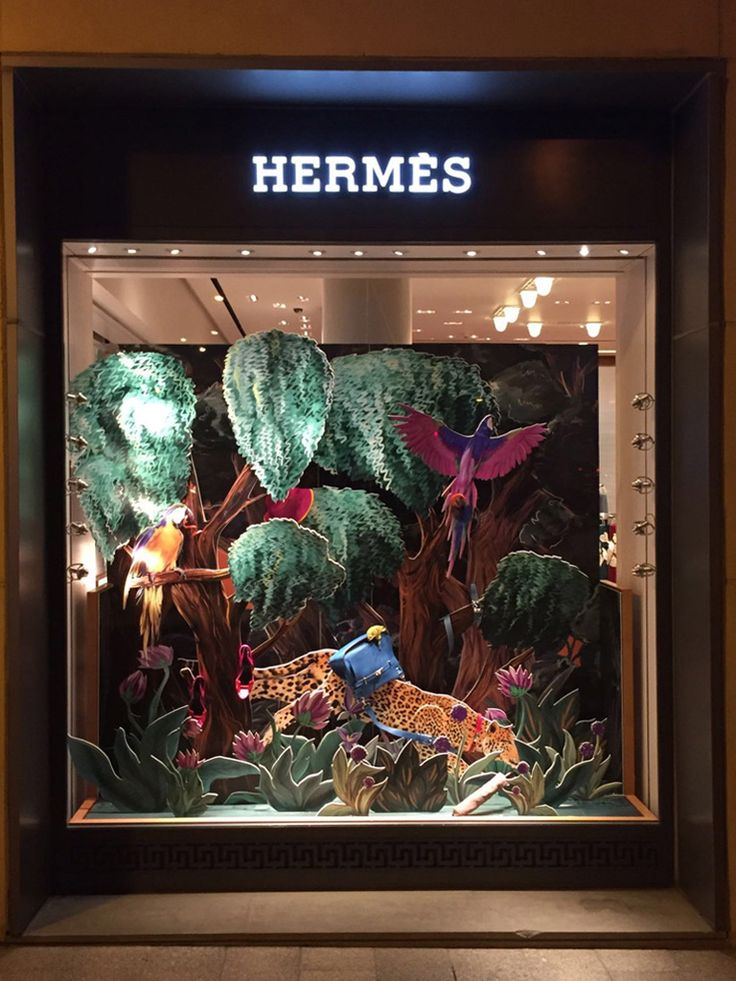 """HERMES, Beirut, Lebanon, """"Inside all of us is a wild thing"""",  creative by Art on Space, pinned by Ton van der Veer"""
