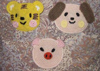 中国 動物の定形円形のかぎ針編みの床の敷物、12cm の子供の漫画のかぎ針編みの場所マット サプライヤー