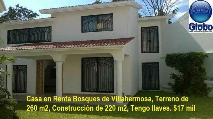 Se renta casa muy amplia en bosques de Villahermosa, $14,000