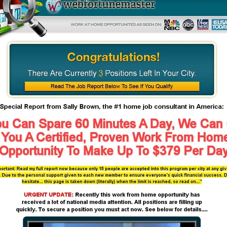 50 best Work From Home Scams To Be Wary Of (reviewed by ScamXposer Home Based Form Fill Up Job on seasonal jobs, office jobs, typist jobs, part-time jobs, remote jobs, educational jobs, nursing home jobs, networking jobs,