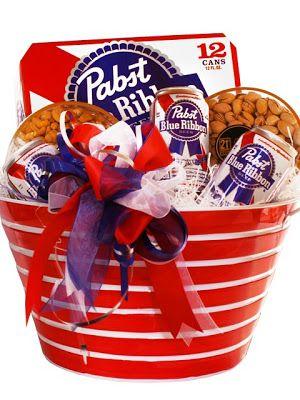 American Favorite: Pabst Blue Ribbon Beer Gift Basket #america