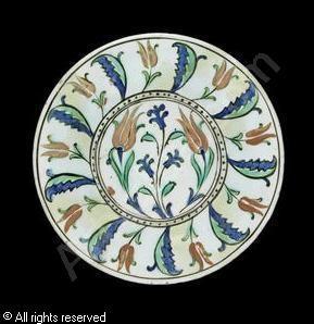IZNIK CERAMIC, 16 > (Turkey)  Title : Dish  Date :  Dish sold by Bonhams, London, on Tuesday, April 24, 2012