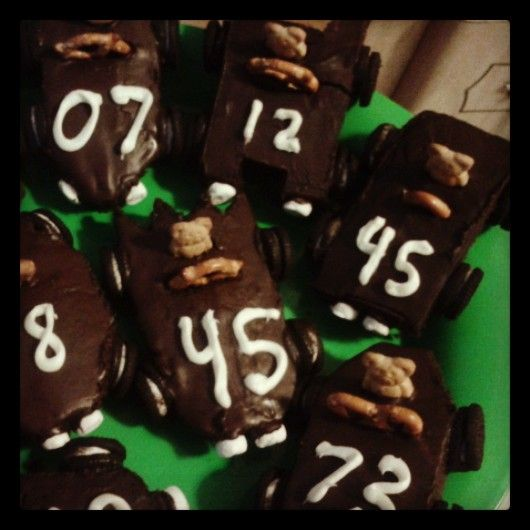 #cubcontest  Pinewood derby brownies for the Pinewood Derby race. Go Pack 86!!