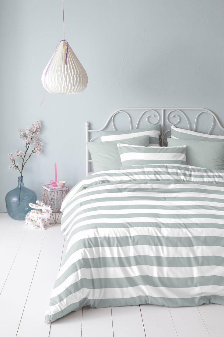 Je geeft je slaapkamer een rustige uitstraling met pastelachtige kleuren #bedroom #pastel