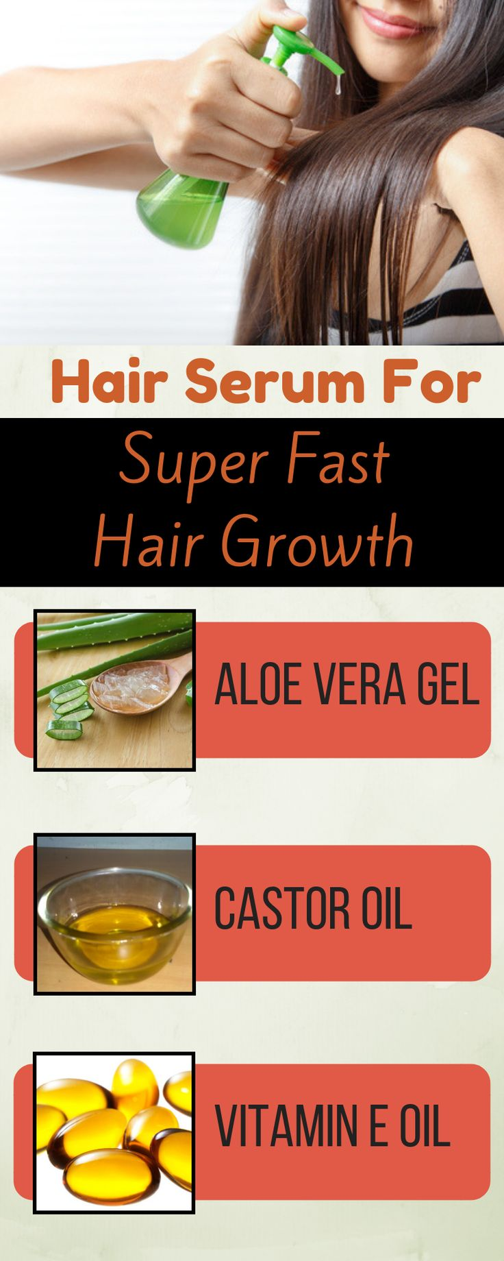 Apply this serum every day in evening and in simply 1 month your hair will develop continuous