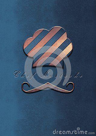 Photoshop work illustration, chef mustache logo