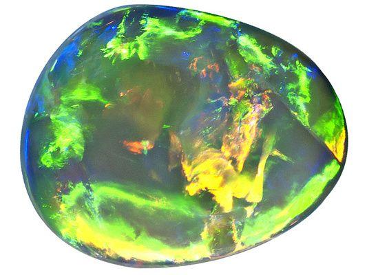 Australian Lightning Ridge Opal 1.34ct 8x6.5mm Free-form Cabochon