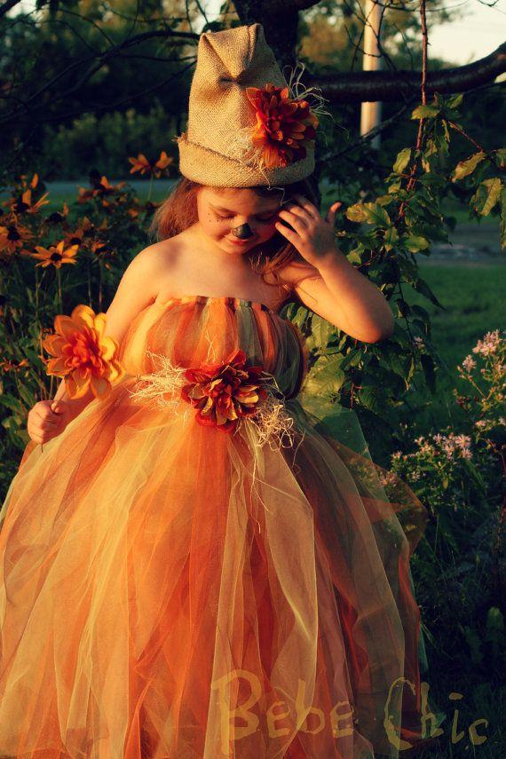Halloween scarecrow tutu dress by Mybebechic on Etsy