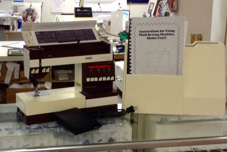 pfaff 1471 sewing machine manual