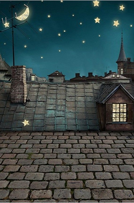 New arrival Background fundo Night sky roof 6.5 feet length with 5 feet width ba #kate