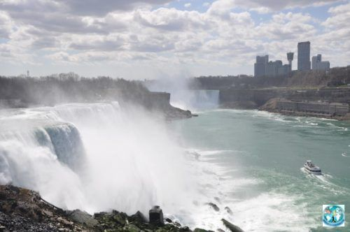 One of the most fabulous waterfalls in the world, Niagara Falls at the border between Canada and United States of America is composed by three waterfalls