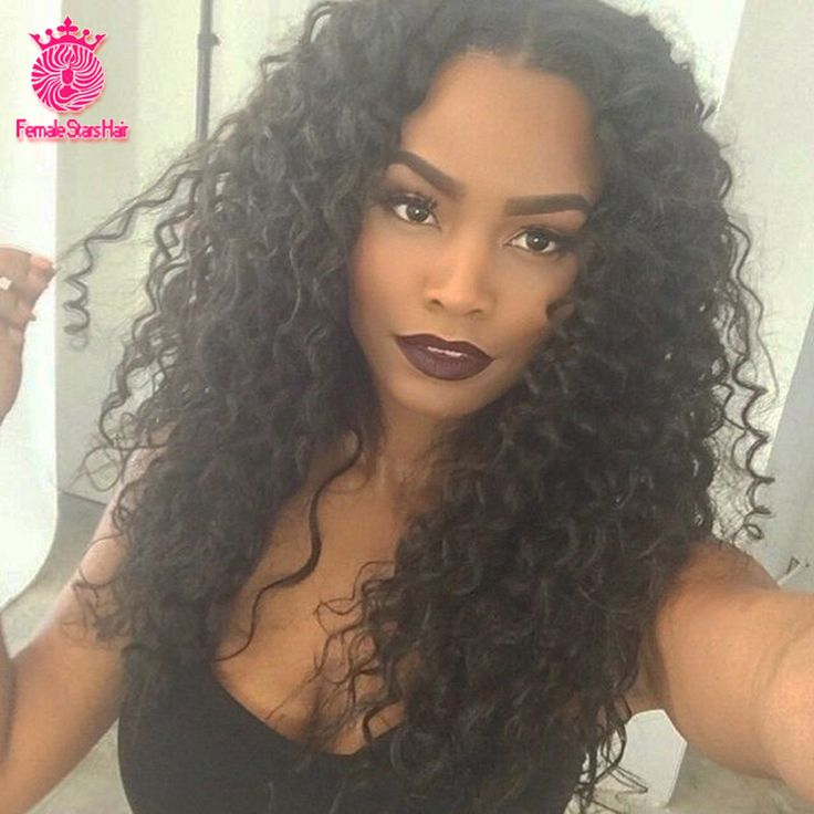 Stock - 7A Glueless Full Lace Human Hair Wigs Kinky Curly 100% Unprocessed Brazilian Virgin Hair Lace Front U Part Wigs