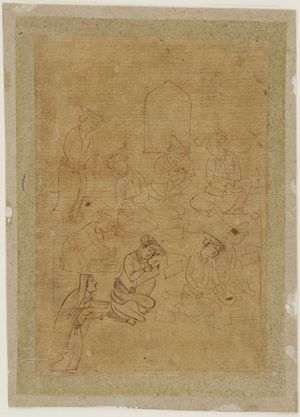 School scene 1640s Safavid period  Ink on paper H: 13.6 W: 9.4 cm  Isfahan, Iran  Purchase F1953.38  Freer-Sackler | The Smithsonian's Museums of Asian Art