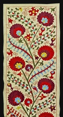 Beautiful UZBEK Ottoman Silk Handmade Embroidery Long Suzani A1889 | eBay