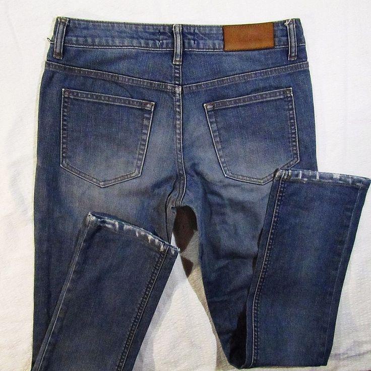 ladies jeans Acne destroyed Hex Clone    luxury jean- W27 L32 #AcneJeans #StraightLeg