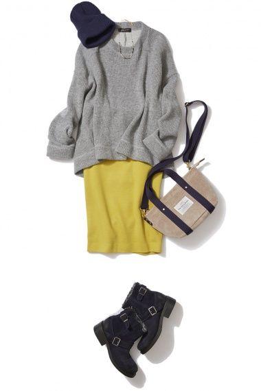 冬の1色投入はマスタードイエローに決まり!レディに艶めく冬の着こなし ― B-ファッションコーディネート通販|ビストロ フラワーズ トウキョウ