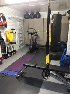 This Super Little Home Gym Was Installed In This Customers Garage In  Cardiff. The Owners Wanted To Transform Their Dark And Dusty Space Into A  Usable Area ...