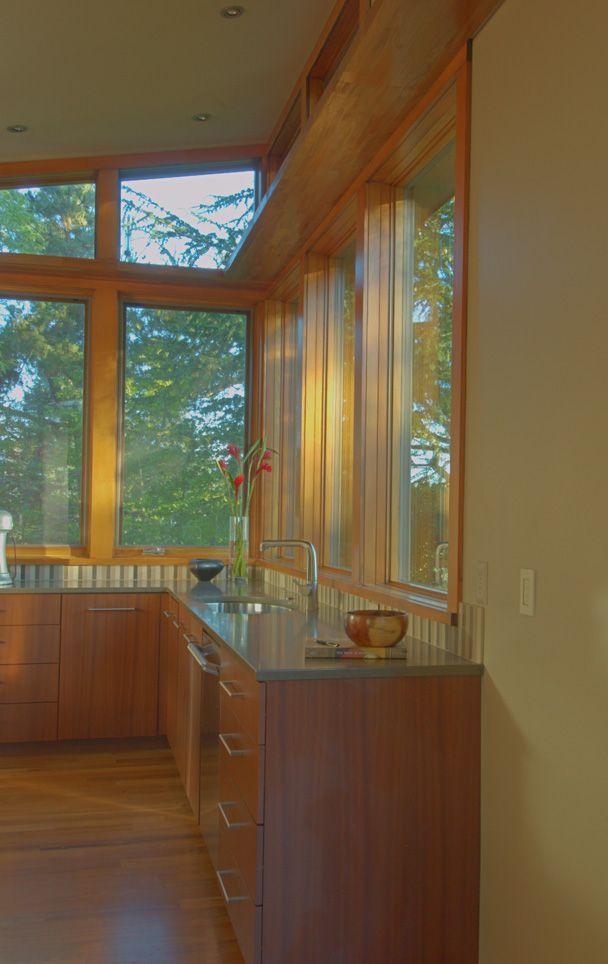 Detail Of Kitchen Area Window Treatment In Custom Stillwater Dwellings  Prefab Home.