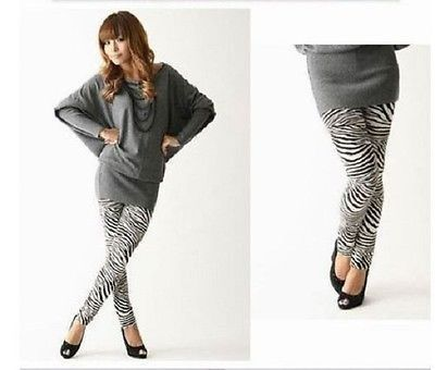 9.78$  Watch now - http://viock.justgood.pw/vig/item.php?t=wbp2rx247234 - Womens Sexy black & white Zebra stretch Leggings Soft Touch Small 4-6 9.78$