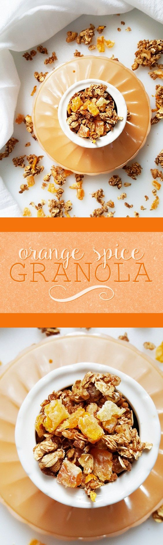{Healthy; Low Calorie; Vegan} This orange spice granola is a great way to start your morning-- and it's made without oil, butter, or refined sugar!