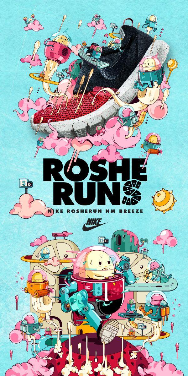 Nike RosheRun by veiray zhang